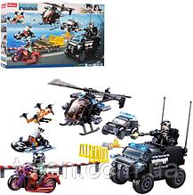 Конструктор SLUBAN M38-B0809 Поліція, транспорт, фігурки, 469 деталей