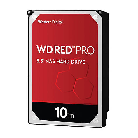 """Жорсткий диск внутрішній WD 3.5""""SATA 3.0 10TB 7200 256MB Red Pro NAS, фото 2"""