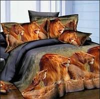 Півтораспальний постільний комплект - Леви ранфорс