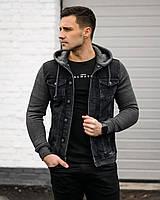 Куртка мужская джинсовая Мемфис черная демисезонная весенняя осенняя | Джинсовка мужская ЛЮКС качества