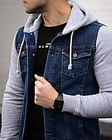 Куртка мужская джинсовая Мемфис синяя демисезонная весенняя осенняя | Джинсовка мужская ЛЮКС качества