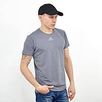 Чоловіча футболка з светоотражайками на грудях і рукаві Adidas (репліка) Сірий