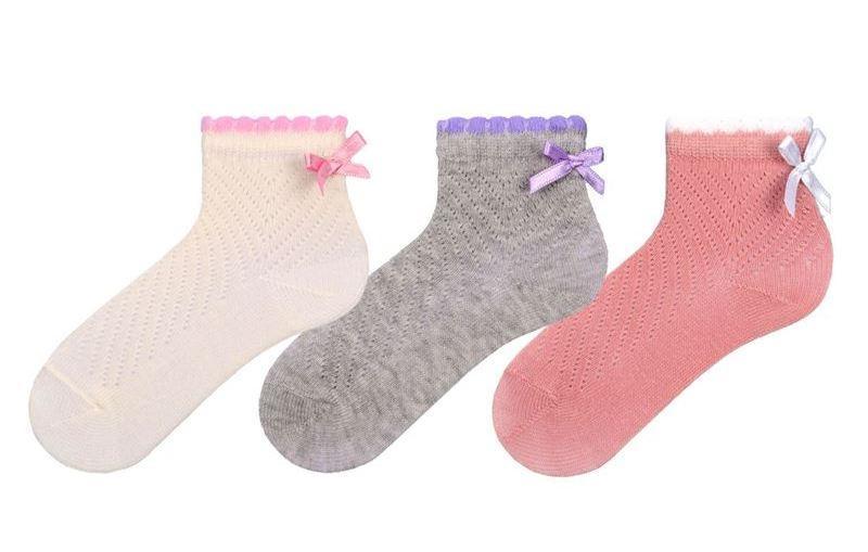 Шкарпетки для немовлят ажурні Bross з бантиком