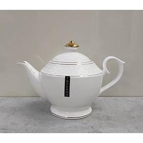 Чайник заварочный фарфоровый 1100 мл Снежная Королева Interos 405316-A
