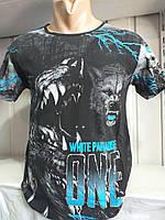 Черные футболки с рисунком оптом