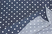 Тканина Джинс стрейч, №352  синій горох (стрейч! сорочка, сукня), фото 1