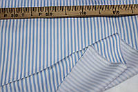 Тканина Джинс стрейч, №355  полоса блакитна (стрейч! сорочка, сукня)