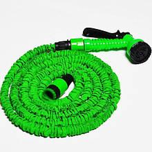 Шланг для полива X HOSE 15 м с распылителем, садовый шланг, поливочный шланг для сада ЗЕЛЕНЫЙ AVE