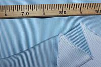 Ткань джинс стрейч, №357  полоса голубая узкая (стрейч! Рубашка, платье)