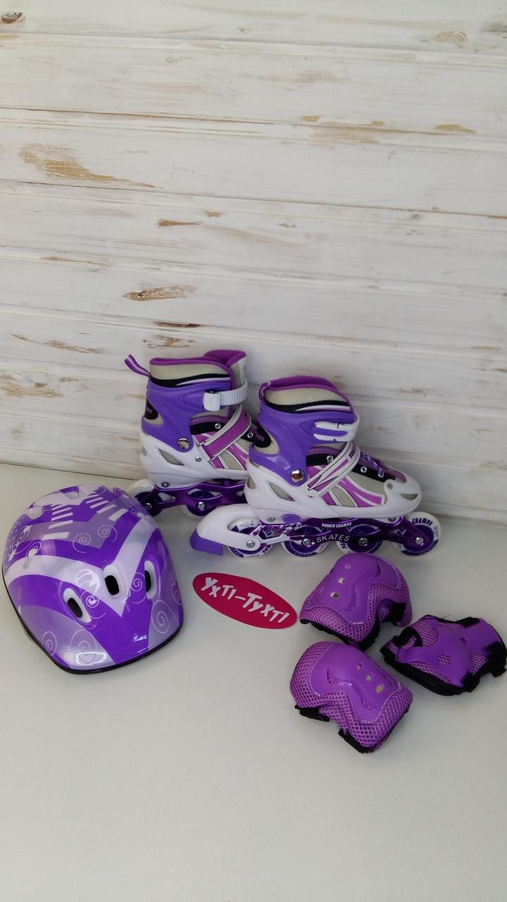 Комплект роликів Power Champs Violet, Фіолетовий, розмір 34-37, 1478667763