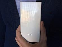 Power bank Xiaomi 20000mAh 2 USB портативна батарея, повербанк, пауер Сяоми БІЛИЙ