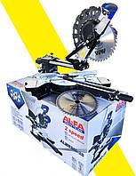 Торцовочная пила стусло AL-FA ALMS-250-2S 2500 ВАТ две скорости.По дереву и алюминию+Лазерная указка