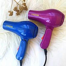 БЕСПЛАТНАЯ ДОСТАВКА!Фен для волос дорожный Nova 1000W со складной ручкой / Мини фен AVE