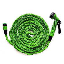 Шланг для полива X HOSE 60 м с распылителем, садовый шланг, поливочный шланг для сада Зелёный AVE
