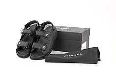 Женские босоножки сандали Chanel Dad Sandals. Черные