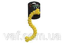 Игрушка AnimAll GrizZzly для собак, шнур мотивационный, желтый, 33 см