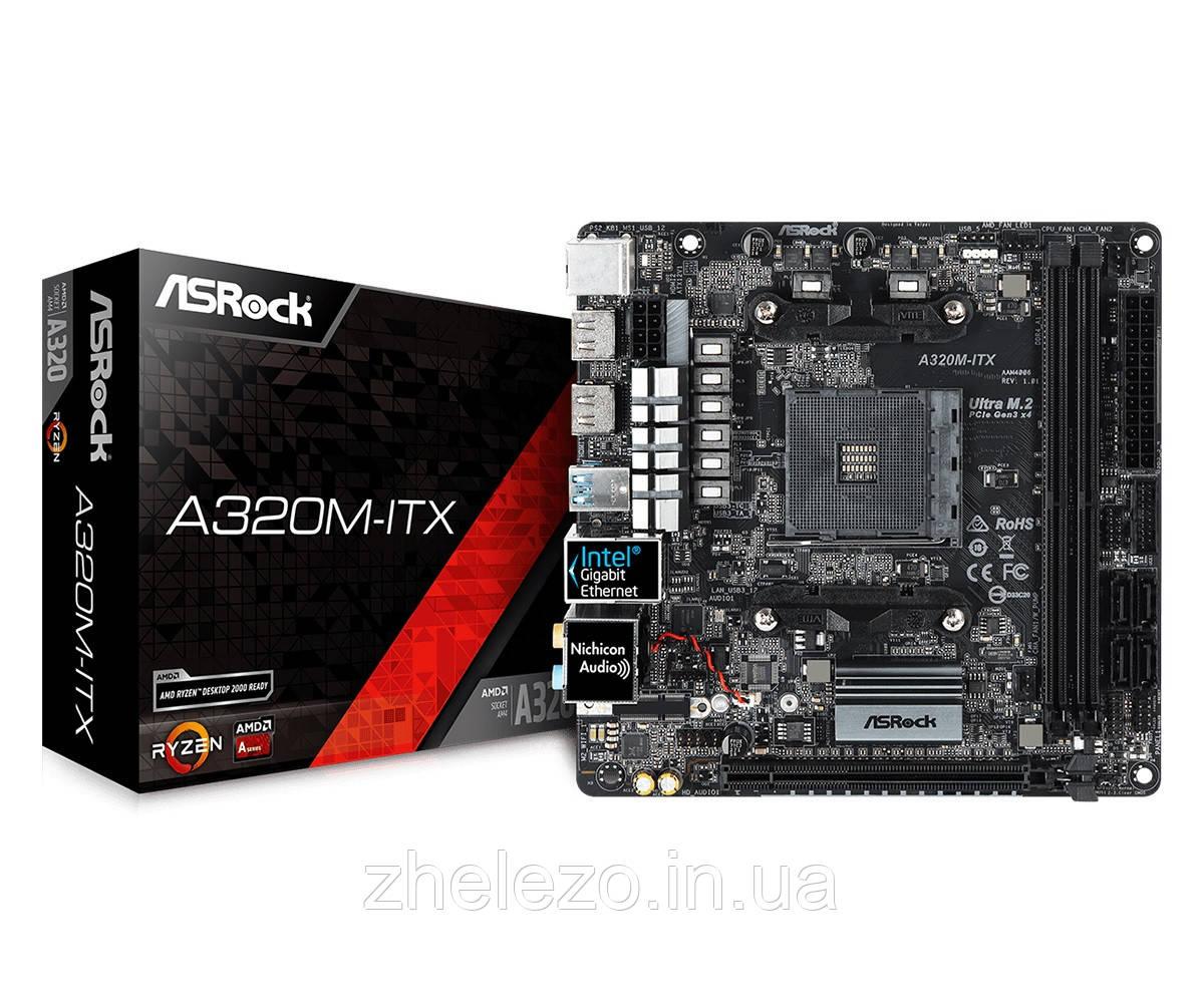 Материнская плата ASRock A320M-ITX Socket AM4