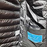 Чоловіча жилетка чорна безрукавка з капюшоном, фото 8