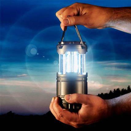 Кемпінговий світлодіодний ліхтар на сонячних батареях G85 AVE