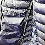 Чоловіча жилетка безрукавка темно-сині плечі з електриком з капюшоном, фото 8
