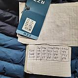 Чоловіча жилетка безрукавка темно-сині плечі з електриком з капюшоном, фото 10