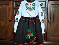 """Вышиванка для девочки костюм """"Калина"""" (9-10 лет)"""