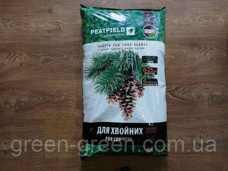 Грунт (Субстрат) Зеленый дар хвоя PEATFIELD, 40л