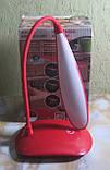 Настольная лампа на батарейках гибкая (красная), фото 2