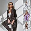 Р 42-54 Женский костюм двойка, пиджак и брюки в горох Батал 23655-1
