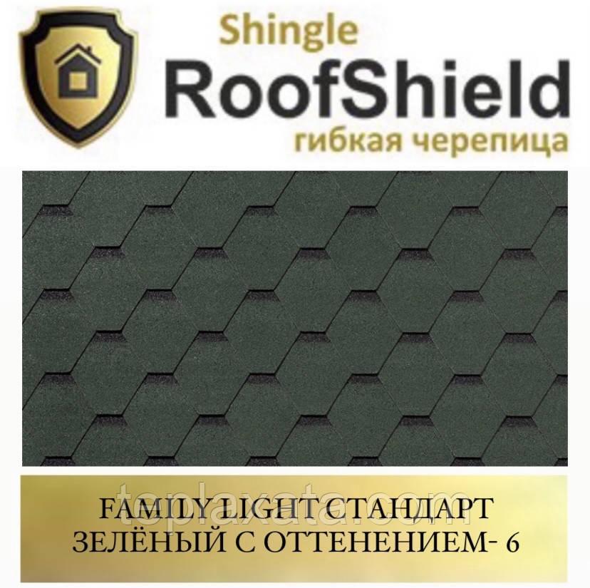 ROOFSHIELD Фемили Стандарт 6 Зелёный с оттенением