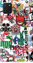 "Чехол на Samsung Galaxy Note 10 Lite Many different logos ""4022c-1872-2448"""