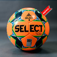 Мяч футзальный SELECT FUTSAL SUPER FIFA B-gr (без лого FIFA), (011) оранж/синий