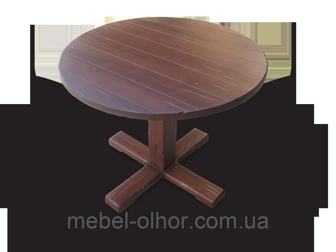Стол из натурального дерева Кантри круглый