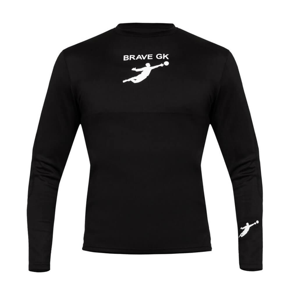 Термофутболка воротарська BRAVE GK з захистом, чорний p.XL