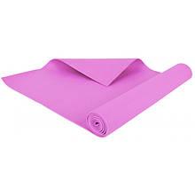 Мат тренировочный универсальный / Коврик тренировочный для фитнеса, 3 mm pink