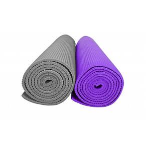 Мат тренировочный универсальный / Коврик тренировочный для фитнеса, 5 mm silver, фото 2