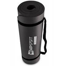 Коврик для фитнеса и йоги / Мат для фитнеса и йоги HS-N015GM 1,5 см black, фото 2