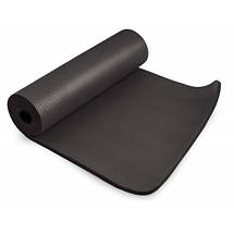 Коврик для фитнеса и йоги / Мат для фитнеса и йоги HS-N015GM 1,5 см black, фото 3