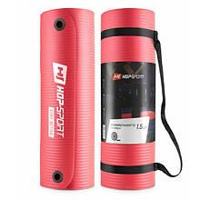 Коврик для фитнеса и йоги / Мат для фитнеса и йоги HS-N015GM 1,5 см red