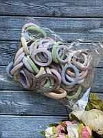 Резинка Калуш 4 см, 50 шт/уп пастель люрекс, фото 1