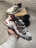 Чоловічі кросівки Asics Білі Шкіряні, Репліка