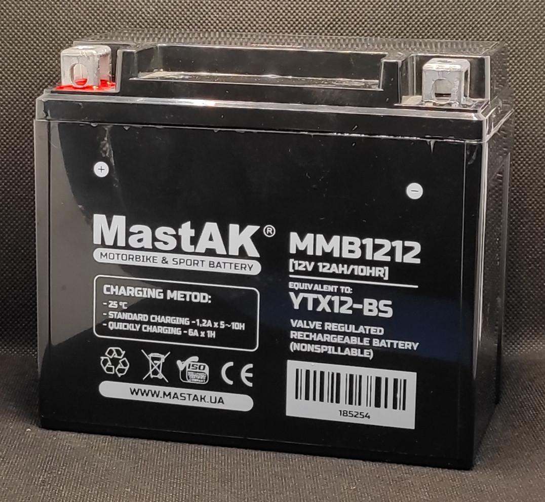 Акумулятор МastAK MMB1212 12v 12Ah