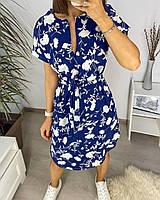 Платье женское летнее в цветочек 020 (M(44-46); L(46-48); XL(48-50); XXL(50-52) СП, фото 1