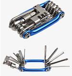 Велосипедный ключ (мультитул) 11 в 1, фото 4