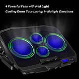 Охлаждающая подставка для ноутбуков Laptop Cooler S18, фото 6