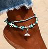 Жіночий браслет на ногу з підвіскою морський на ланцюжку