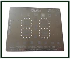 Трафарет BGA AMAOE SAM:9 для Samsung 7570, 3475, SC9830A, 7730S, CPU-0,12mm, J1, J2, J3, J100h, J2, J320, G570