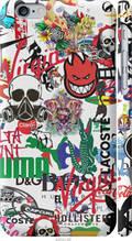 "Чехол на Apple iPhone 6 Many different logos ""4022c-45-2448"""