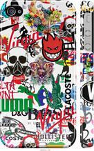 """Чехол на iPhone 4 Many different logos """"4022c-15-2448"""""""