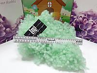 Шарики холлофайбер зеленый 2й сорт. Упаковка 5кг. Наполнитель для подушек и игрушек.
